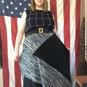 Catherine's Black and Grey Maxi Skirt